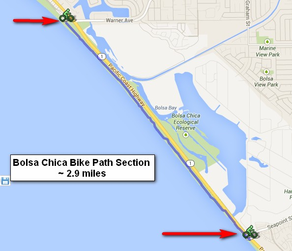 Bolsa Chica Bike Path Map