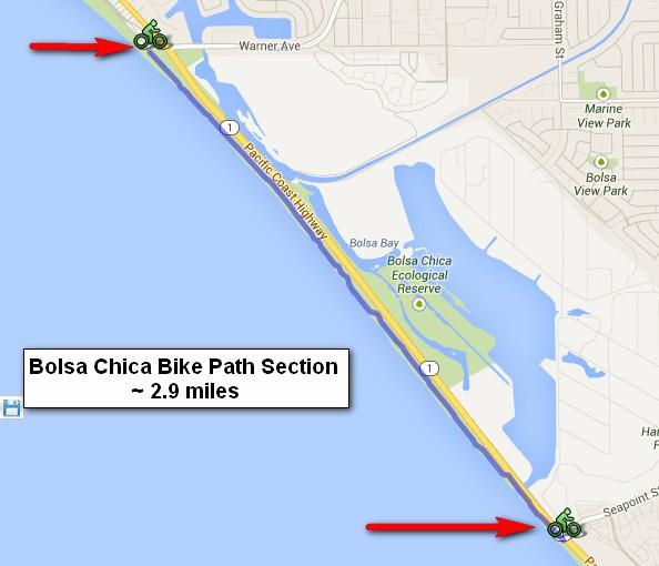 Bolsa Chica Beach Bike Path Southern California Beaches