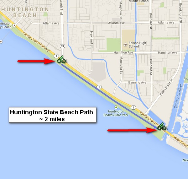 Hb State Beach Bike Path Map