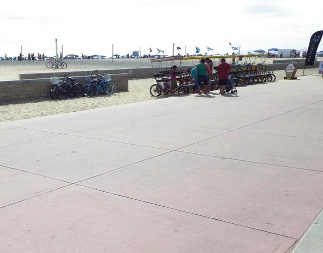 Huntington Beach Bike Path Southern California Beaches