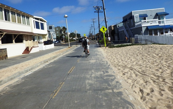 Start point of Hermosa Beach Path