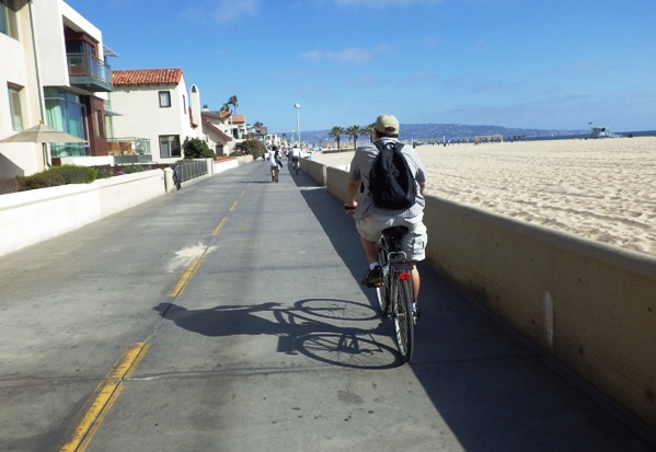 Hermosa Beach Bike Path View
