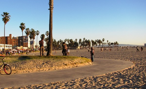 Venice Beach Bike Path Curves
