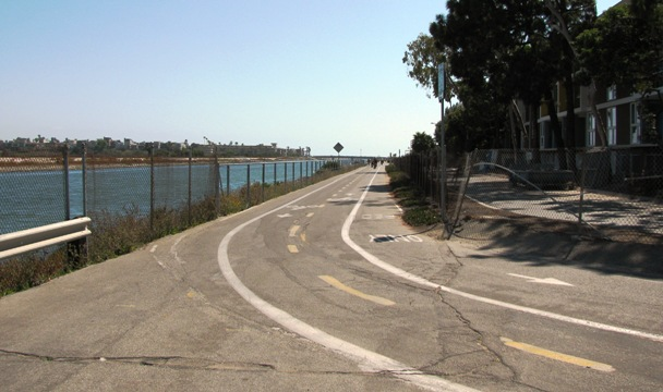 Ballona Creek Bike Path Section
