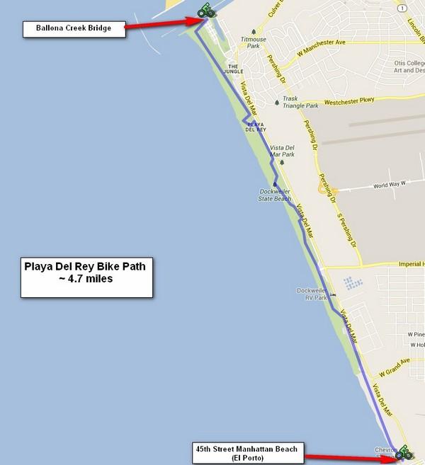 Playa Del Rey Beach Bike Path