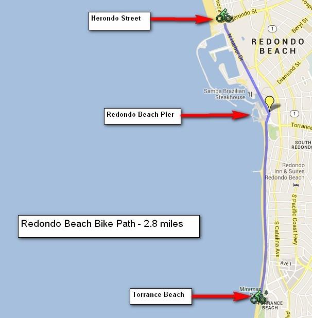 Redondo Beach Bike Path Southern California Beaches