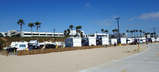 RVs parked at Dockweiler