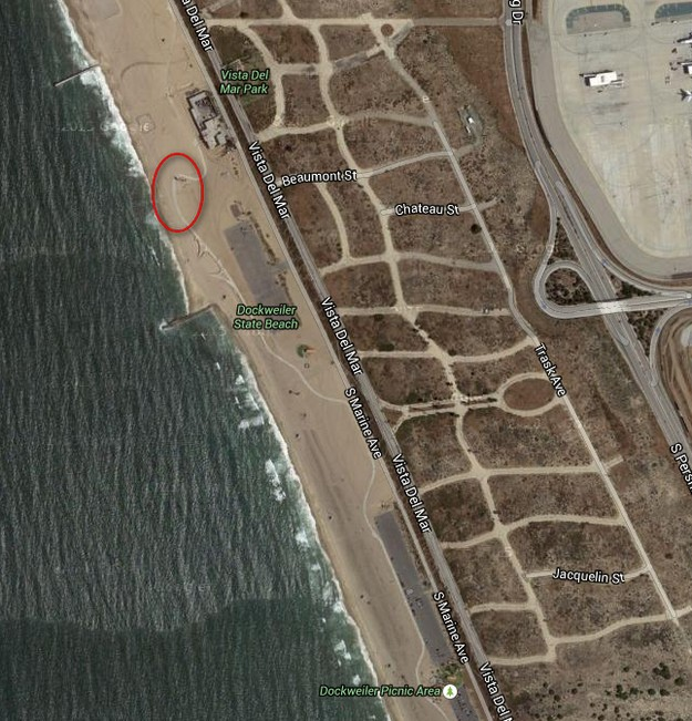 Closed Dockweiler Beach Path Section