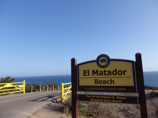 El Matador Beach Sign and Gate