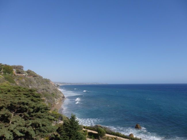 View to Point Dume from El Pescador Bluffs