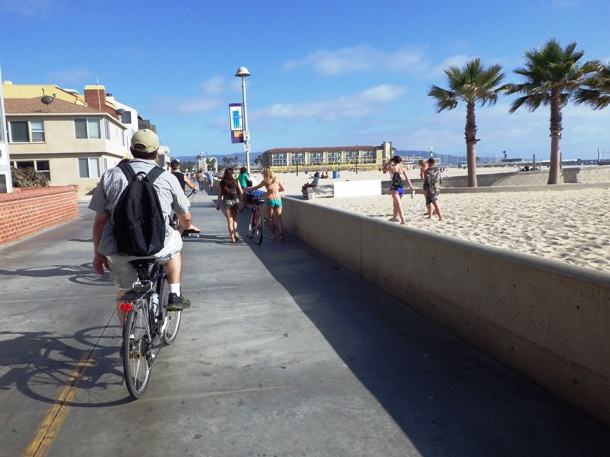 Biking along the Strand in Hermosa