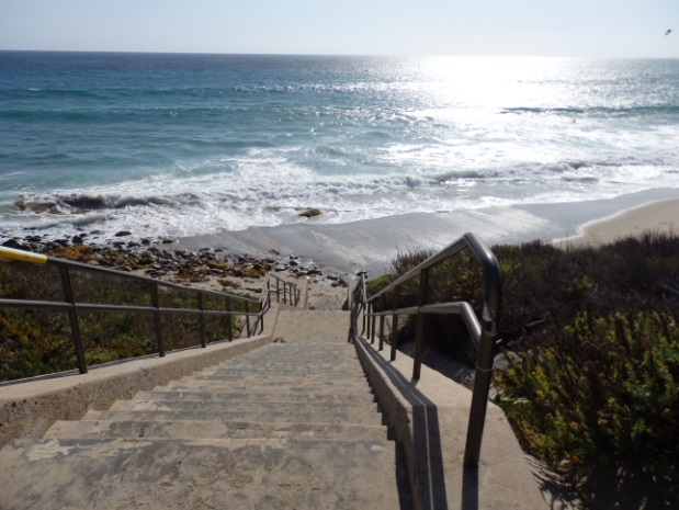 Concrete Stairs to Beach