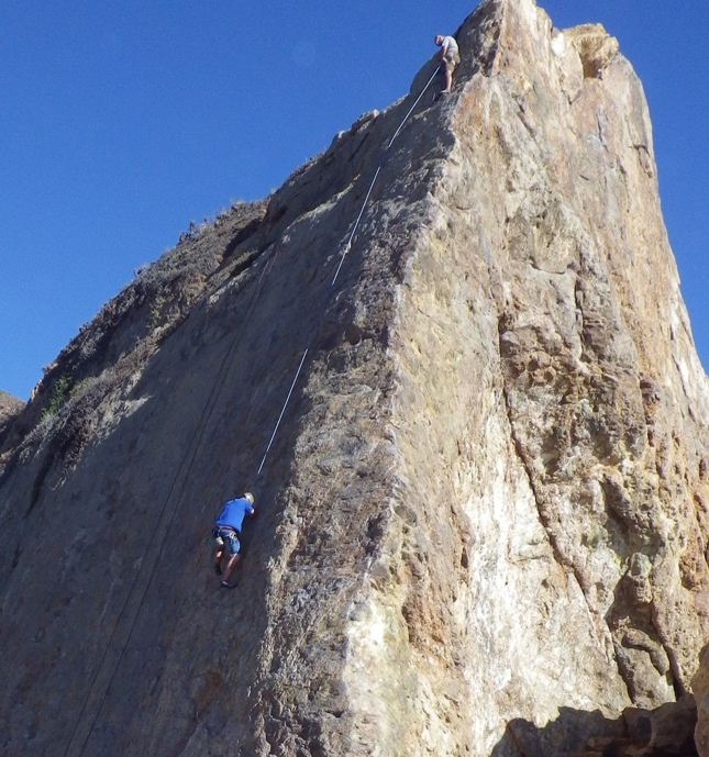 Rock Climbing at Point Dume