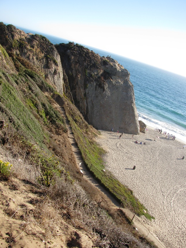 Pt Dume Trail Entrance From Beach