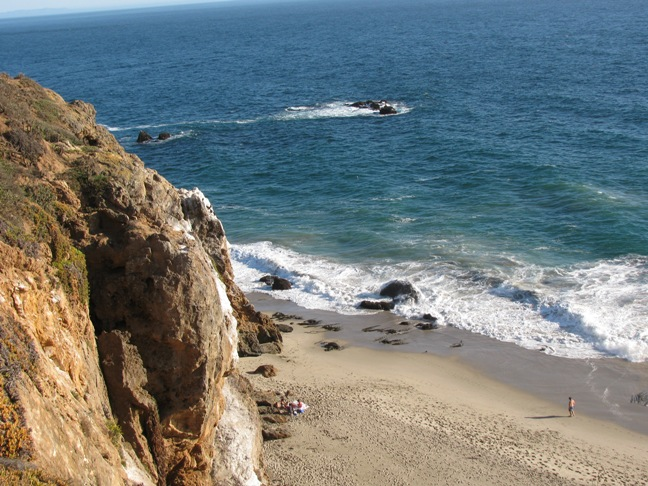 View of Pirates Cove from Point Dume Trail