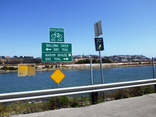 Ballona Creek Bike Trail Sign