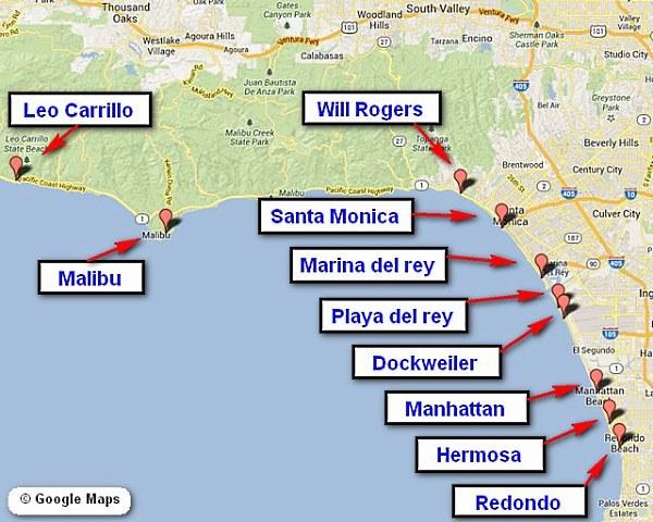 Beach Map Locations