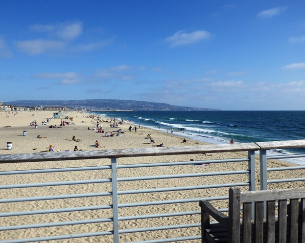 Hermosa Pier towards Redondo Beach
