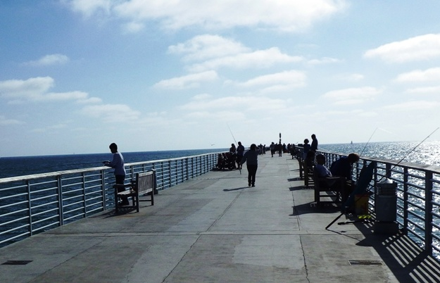 Fishing on Hermosa Pier