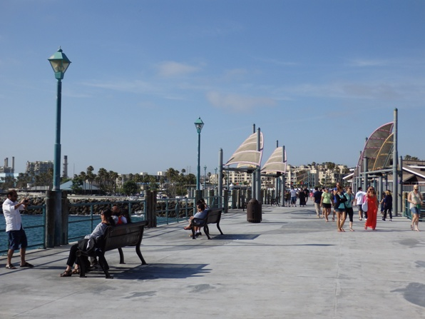 Walking on the Redondo Pier