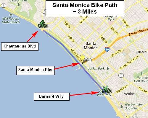 Santa Monica Bike Path At Chautauqua