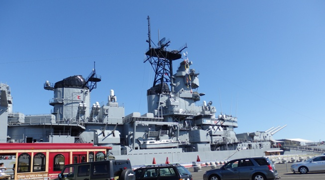 USS IOWA View