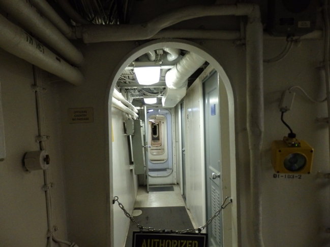 Corridor inside USS IOWA