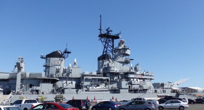 USS IOWA from Parking Lot