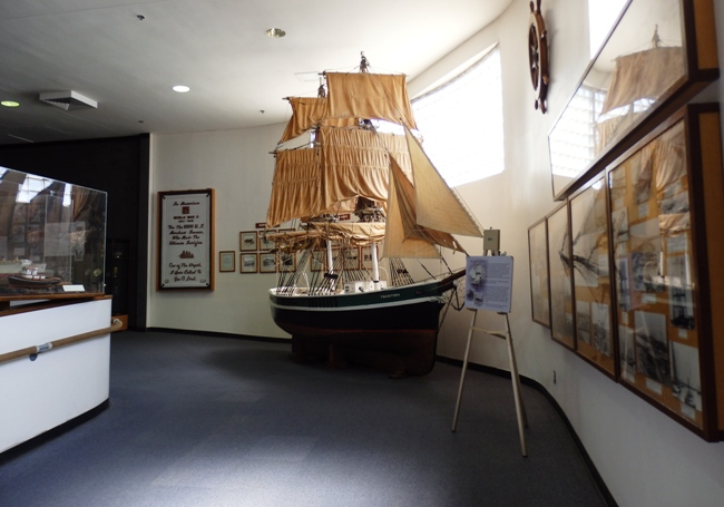 LA Maritime Museum Model of Sailing Ship