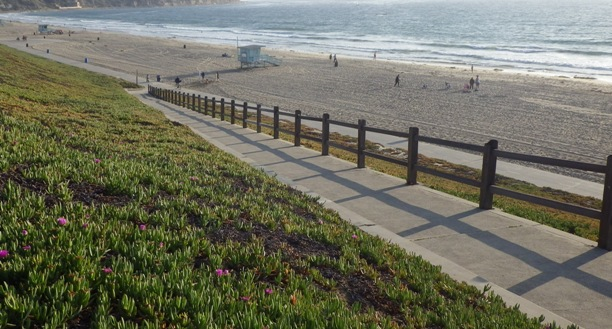 Ramp down to Beach from street level