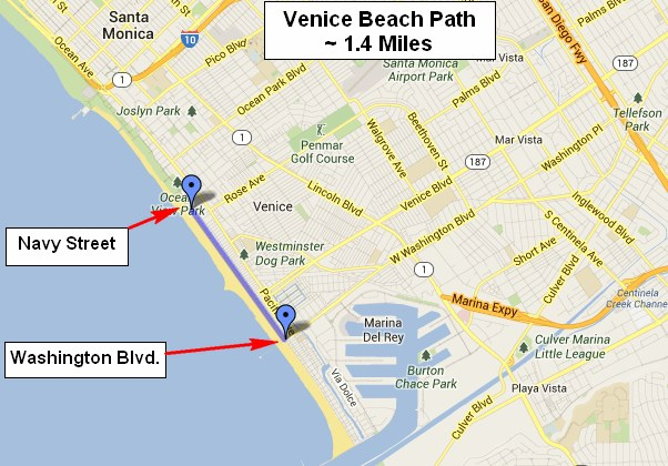 Venice Beach Bike Path Map